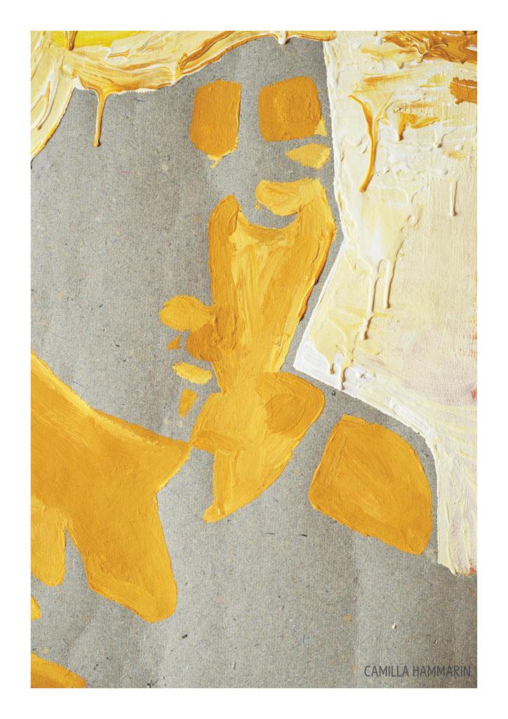 Självporträtt. Akrylfärg på golvpapper