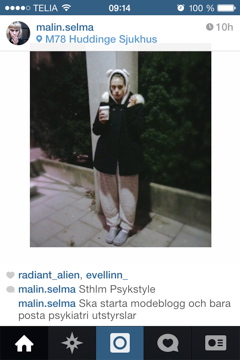 """Malin-Selma's originalbild på instagram: """"psykstyle"""""""